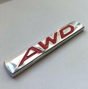 Rouge Argent AWD Métal Chrome Badge pour Ssangyong Musso Rexton Tivoli SUV