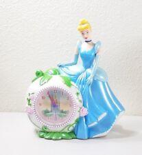 Disney Cinderella Alarm Clock Savings Bank Works EUC