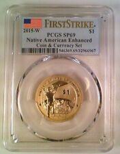 2015-W Sacajawea Native American Dollar Enhanced Coin Currency PCGS SP69