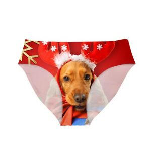 Christmas Animal Underwear Seamless Briefs Panties Knickers Soft Sexy for Womens
