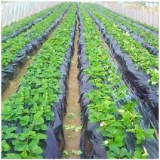 2xAgabric Plastic Film Mulch -Weed Control-Plastic- 4ft x 35ft Black