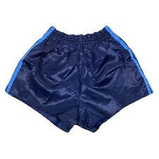 Vintage 80s Adidas Nylon Running Shorts Gym Blue Made in Yugoslavia Size Small