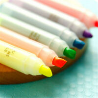 Highlighter Pen Rabbit Writing Kawaii New Stationery Mini Marker Pens 6PCS Set