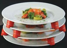 More details for plate spacers set of 9 red blocks 28mm high - dishwasher safe