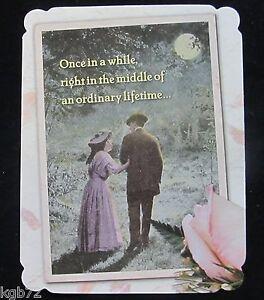 Leanin Tree Wedding Greeting Card Vintage Love Multi Color Notelet Series N100