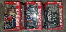 Transformers R.E.D. Wave 1 Set Of 3 Optimus Prime Soundwave Megatron Walmart RED