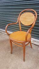 Antique Vintage Bentwood Cane Captain Chair Thonet Style Phoenix Chair Company