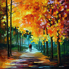"AUTUMN COLORS —  Oil Painting On Canvas By Leonid Afremov. Size: 30""x30"""