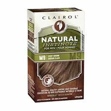 Clairol Natural Instincts Semi-Permanent Hair Dye Kit for Men Light Brown 3 C...