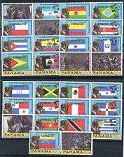 Briefmarken Panama 1980 Fußball WM Spanien Nr : 1488 - 1517 Überdruck ** BR693