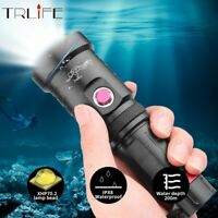 200000LM XHP70 Diving LED Flashlight Torch Dive Underwater Lamp 18650 26650