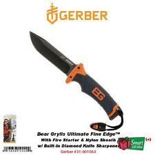 Gerber Bear Grylls Ultimate Fine Edge Knife, w/Fire Starter & Sheath #31-001063