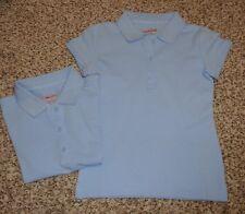 Set of 2 Cat & Jack Girls School Uniform Blue Pullover Shirt Size Xs 4-5 New