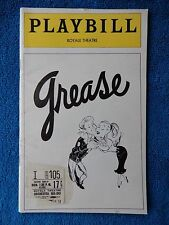 Grease - Royale Theatre Playbill w/Ticket - June 17th, 1974 - Walter Bobbie