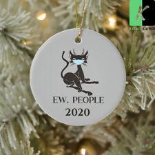 Ew People Black Cat Wearing Mask 2020 Ornament Christmas Decor