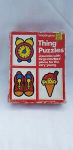 VINTAGE WADDINGTON'S Retro Things Puzzle 3 Puzzles