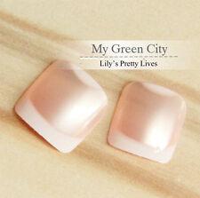 24 Pcs Pre Design French Jewelry Color Full False Toe Nails Art Cover Manicure