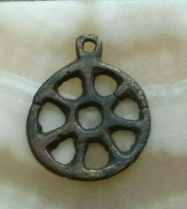 """Pendant """"Ancient Viking"""", pewter, amulet """"Sun"""" of the 12-13th century."""