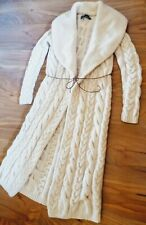 Ralph Lauren Cashmere Hand Knit Long Shawl Cardigan Sweater Coat