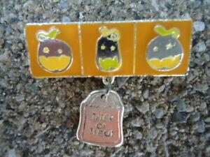 Orange & Silver Enamel Halloween Pumpkin Jack-O-Lantern Trick-or-Treat Ba