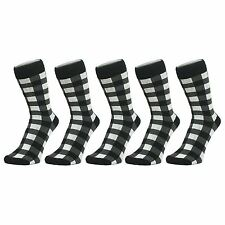 Black And White Checked Ankle Socks (Size: 4-7), 6 PACK