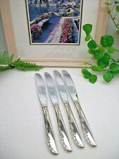 4   Oneida Wm A Rogers Silverplate BRITTANY ROSE Dinner Knives  1948