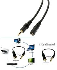 1.5m High Quality Gold Plated 3.5mm Male to Female Stereo Jack Plug Audio Cable
