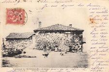 PEIREBEILHE l'auberge timbre rouge 10 cent. droits de l'homme 1902