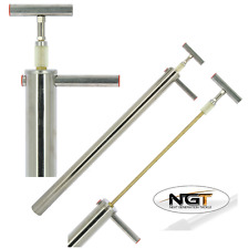 NGT STAINLESS STEEL SEA FISHING BAIT PUMP LUG WORM RAG WORM 86CM LONG, 50MM DIA