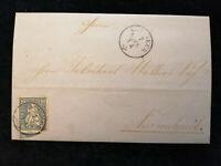 Schweiz - Brief Stempel 1864 St.Gallen Zürich Sitzende Helvetia  10 C   Nr.27