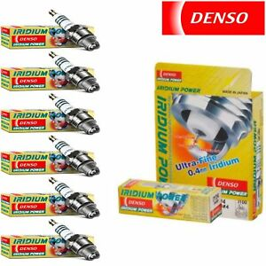 6 Pack Denso Iridium Power Spark Plugs for Nissan Maxima 3.0L V6 1989-2001