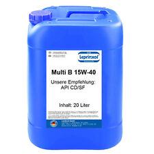 1x20l 15W-40 Motoröl Universal 15W40 Öl API SG CD für Diesel Motoren 20 Liter