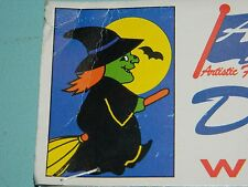 """Vintage 1994 Halloween Witch on a Broom Full Size Flag 28"""" X 40"""" NEW!"""