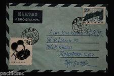 China PRC T106 Giant Panda 50f, R21 20f on Aerogramme - Hebei-WuAn-CiShan cds