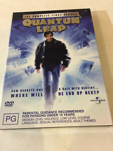 'QUANTUM LEAP' First Season 2005 Region 2 & 4 : 3 Disc DVD In Slip Box