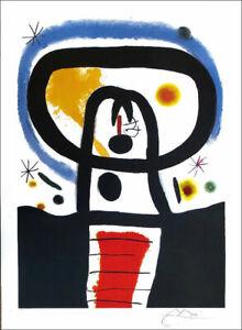 JOAN MIRO Equinox Facsimile P/Signed Offset Litho Print 34 x 26