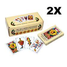 2x Spanish Playing Cards Baraja Espanola Briscas Naipes Deck New
