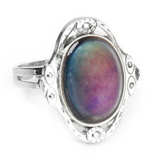 Adjustable Oval Color Change Mood Ring Emotion Feeling Changeable Ring  LW