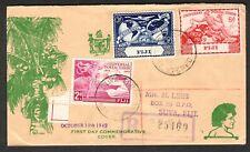 Fiji 1949 Registered First Day Commemorative Cover 75th Anniv UPU  Suva cds