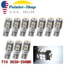 10x Super Bright T10 20Smd Led Dome License Interior Light Bulb 192 194 168 2825