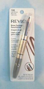 Revlon Brow Fantasy Pencil & Tinted Styling Gel - Light Brown 108