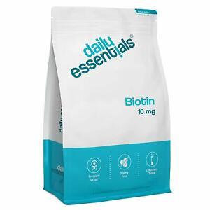 BIOTIN 10 mg - 500 Tabletten á 10.000 mcg Haut Haare Nägel - Hochdosiert & Vegan