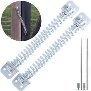"""2 x AUTOMATIC CLOSER GATE SPRINGS 8""""/200mm Zinc Weatherproof Garden Outdoor Door"""