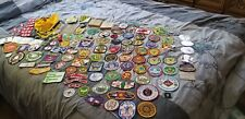 Lot of 126 Vintage Boy Scout Patches, Ribbons, Pins, & Scarf 1960's - 1990's