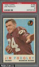 1959 Topps Football #165 Jim Podoley Washington Redskins PSA 9 PERFECT CENTERING