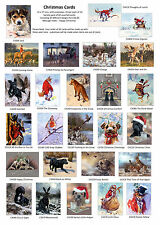 Christmas Cards Variety pack of 60. Dogs, Country Sports, Animals, Wildlife