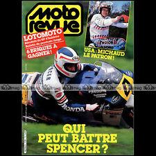 MOTO REVUE N°2706 FREDDIE SPENCER YAMAHA FZ 750 DJERBA 500 GP SALZBURGRING 1985