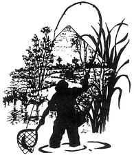Wood Mounted Rubber Stamps, Fishing,  Fly Fisherman, Sportsman, Men, Fly Fishing