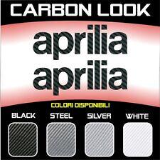 2 Adesivi Stickers Moto APRILIA 3D Carbonio