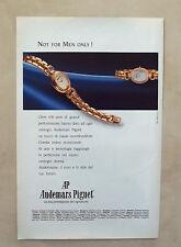 D873 - Advertising Pubblicità -1991- AUDEMARS PIGUET , AUDEMARINE OROLOGIO DONNA